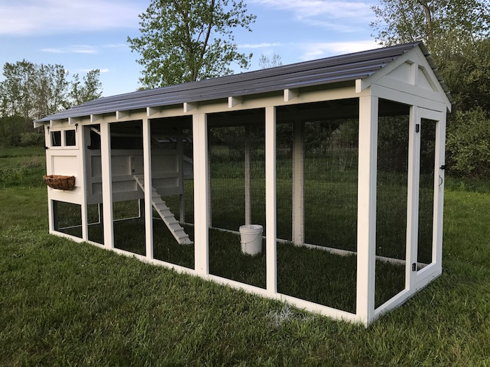 6′ x 18′ American Coop with 4′ x 6′ henhouse