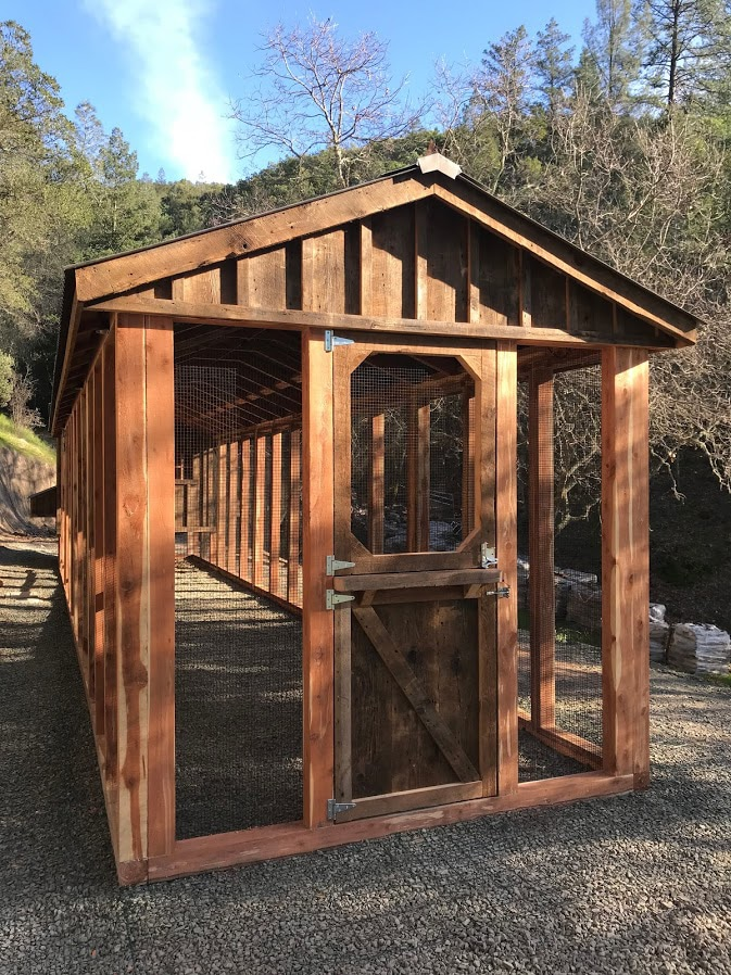 Custom Reclaimed Barn Wood Coop at Winery in California