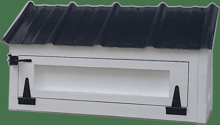 American Coop Egg hutch-black hardware-black roof