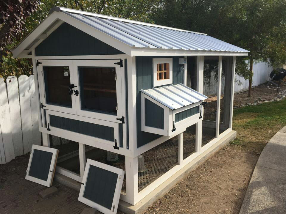 6′ x 12′ Carolina Coop with 4′ x 6′ henhouse in Central Coast California