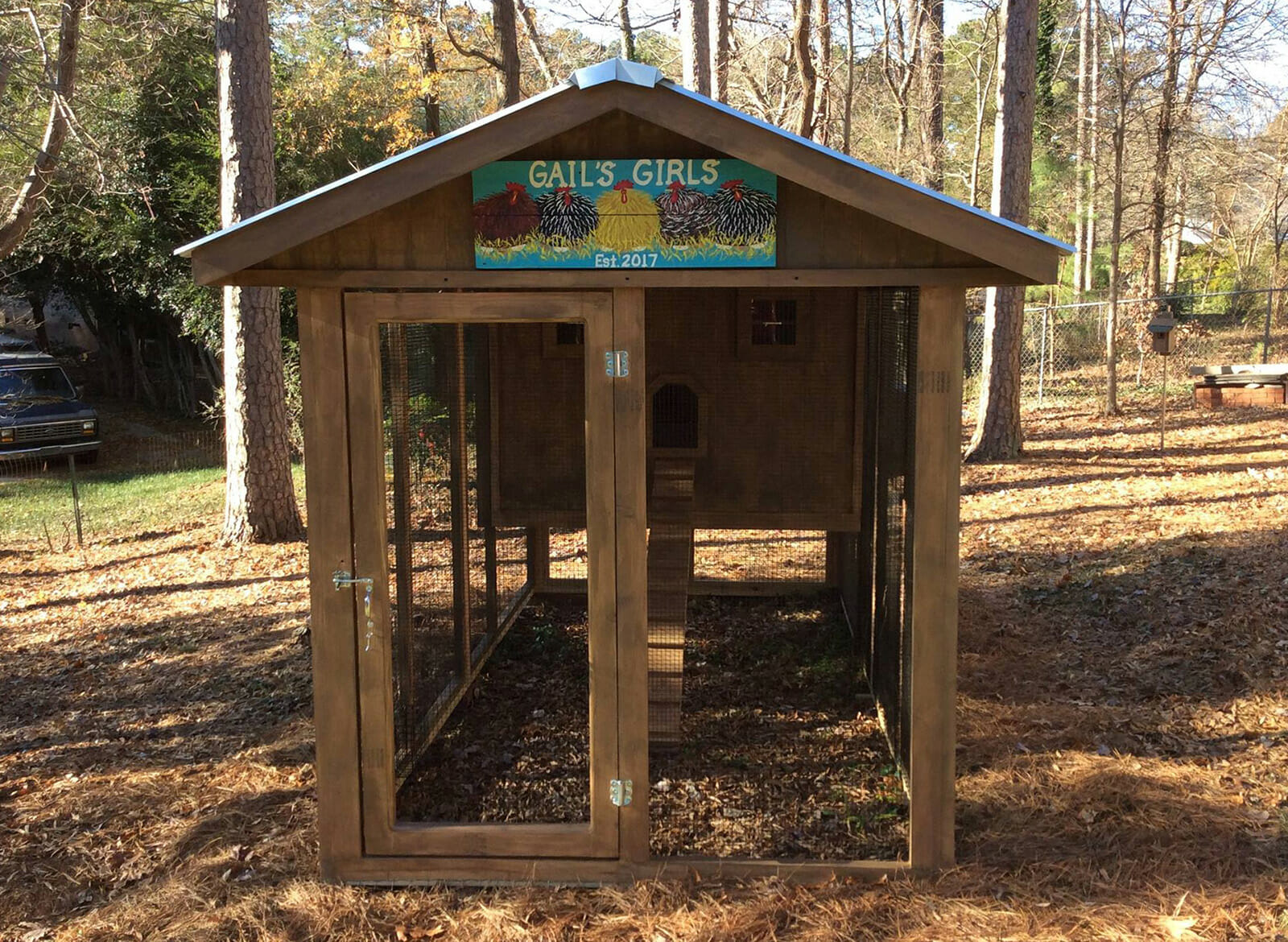 6′ x 12′ Carolina Coop with 4′ x 6′ henhouse in Raleigh, NC