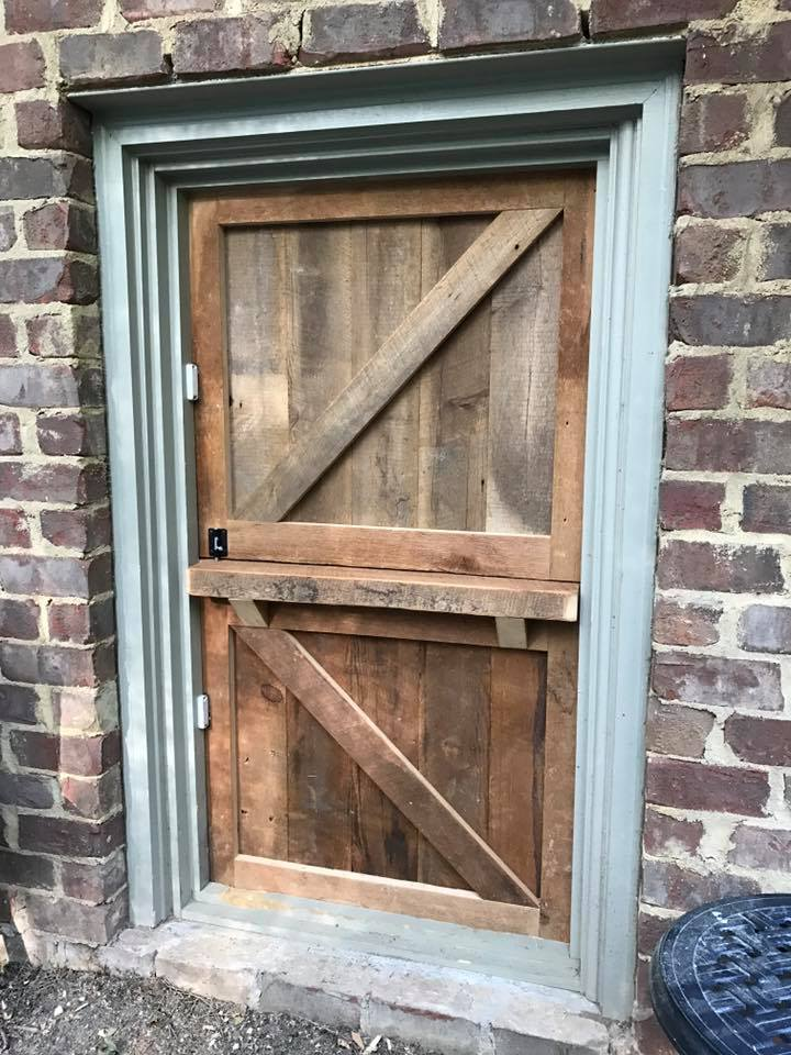 Dutch door on playhouse coop in Raleigh, NC (1)