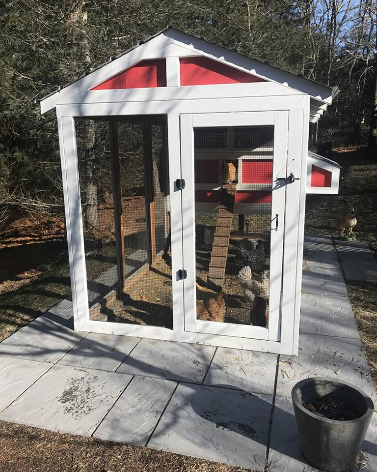 6′ x 12′ American Coop with 4'x 6′ henhouse in Cape Cod, MA