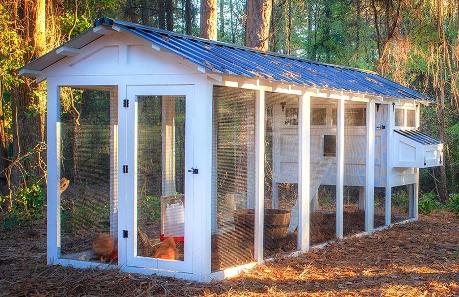 Carolina Coops - American Coop -black hardware black roof 6-foot run extension