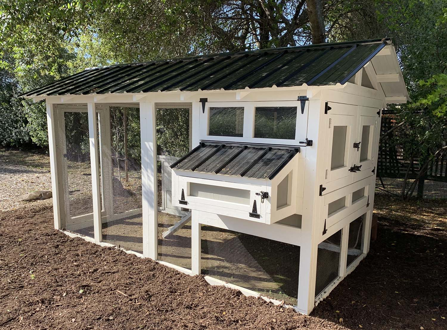 6′ x 12′ American Coop with 4'x 6′ henhouse in Healdsburg, California