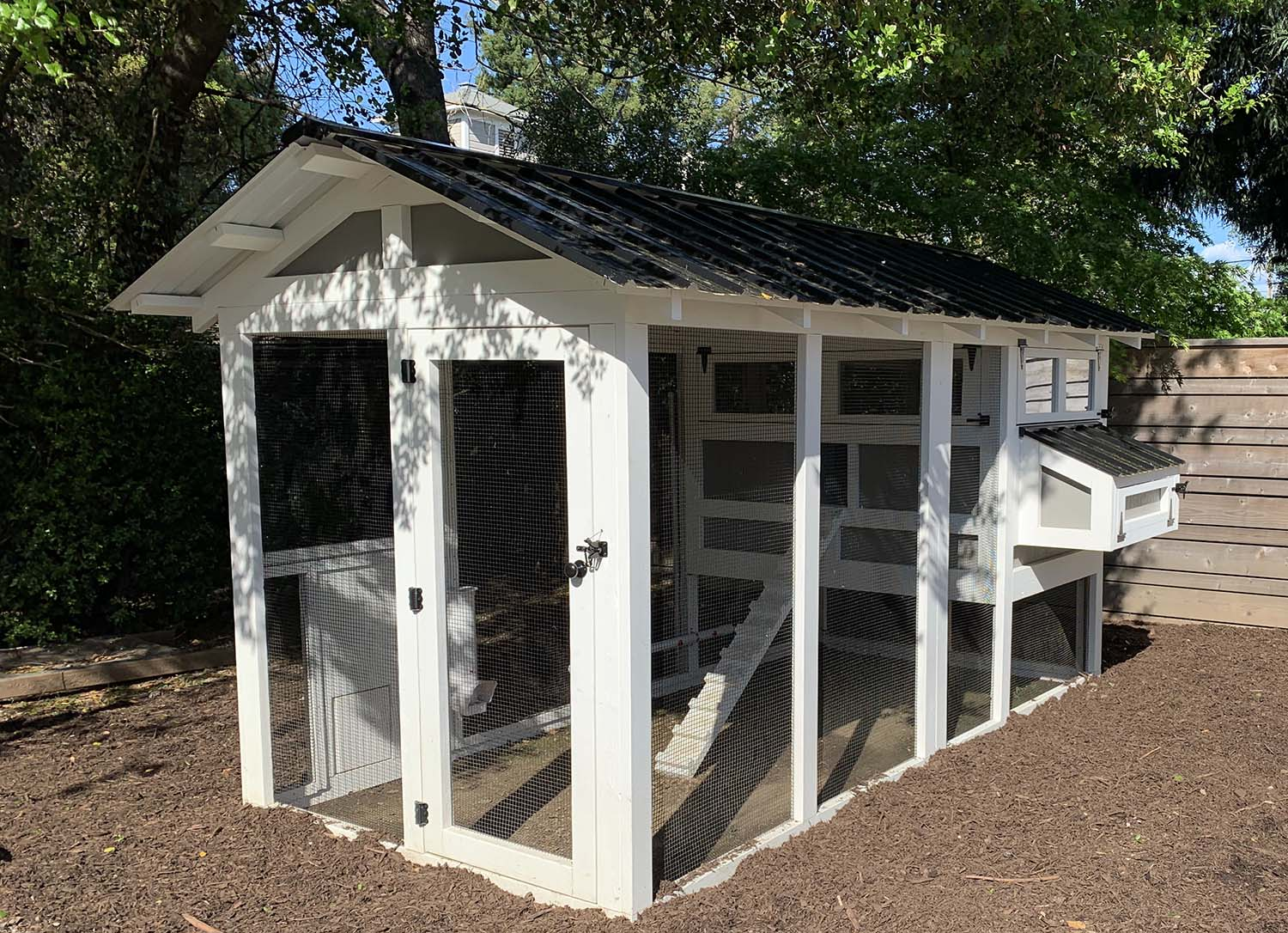 6′ x 12′ American Coop with 4'x 6′ henhouse  and two color paint job in Healdsburg, California