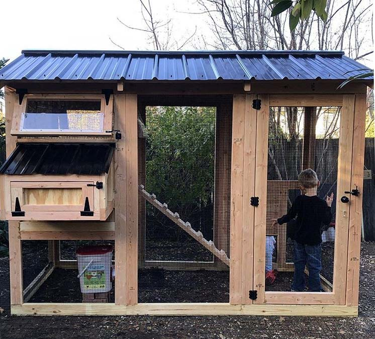 4′ x 9′ California Coop with  3′ x 4′ henhouse in California