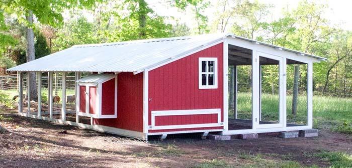 Carolina Coops large custom shed style coop and run