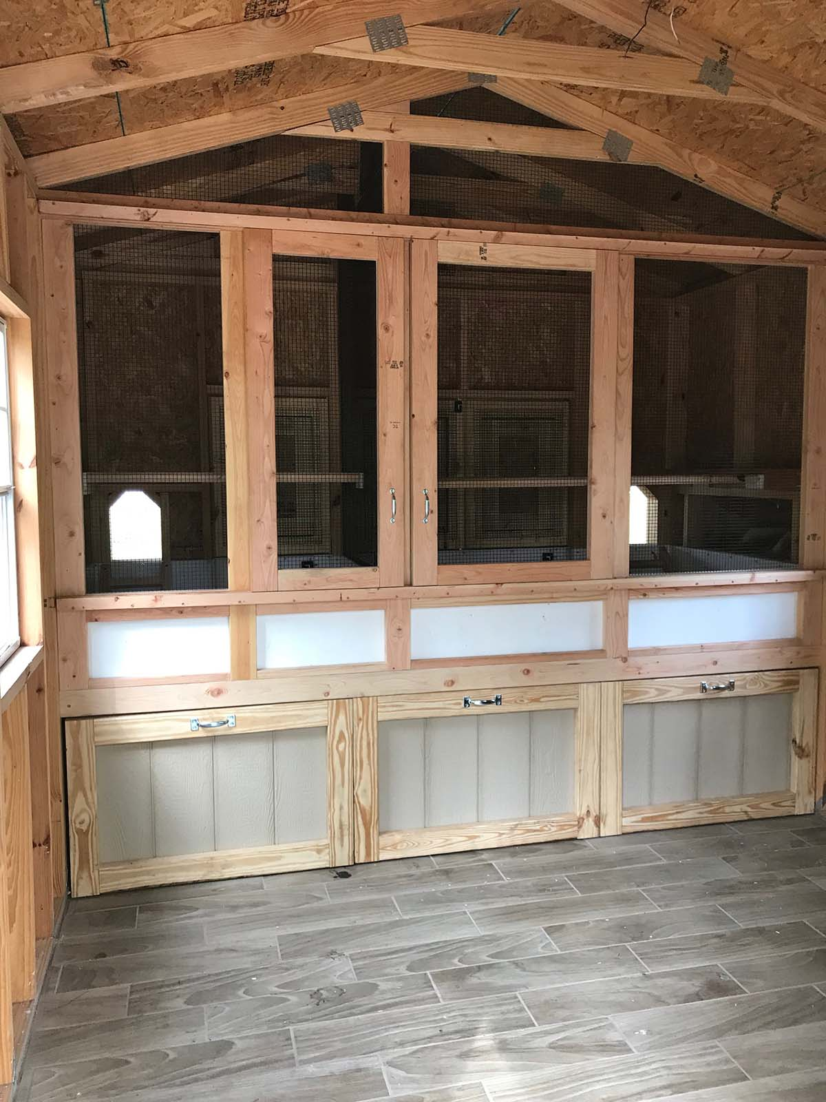 Shed converted into henhouse and storage in Orlando, Florida