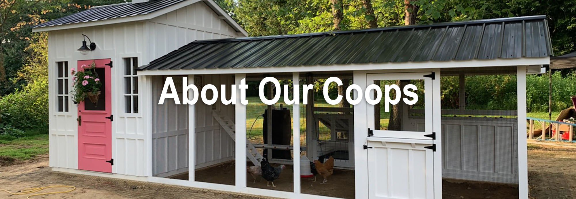 Carolina Coops - find out all the amazing features of our walk-in chicken coops that makes us different than all the rest