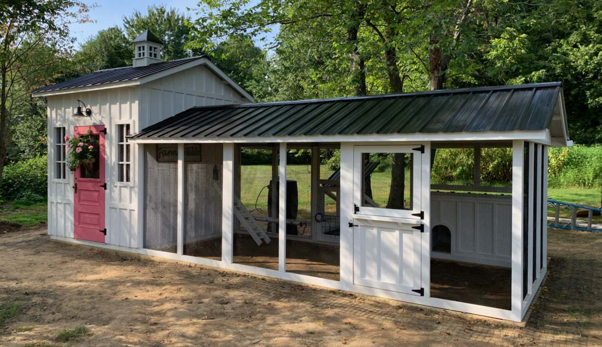 Custom Craftsman chicken and duck coop in Hamilton, Virginia