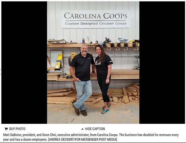 Messenger Post Media article on Carolina Coops