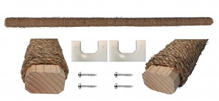Carolina Coops Manila Rope Wrapped Solid Wood Roost Bar