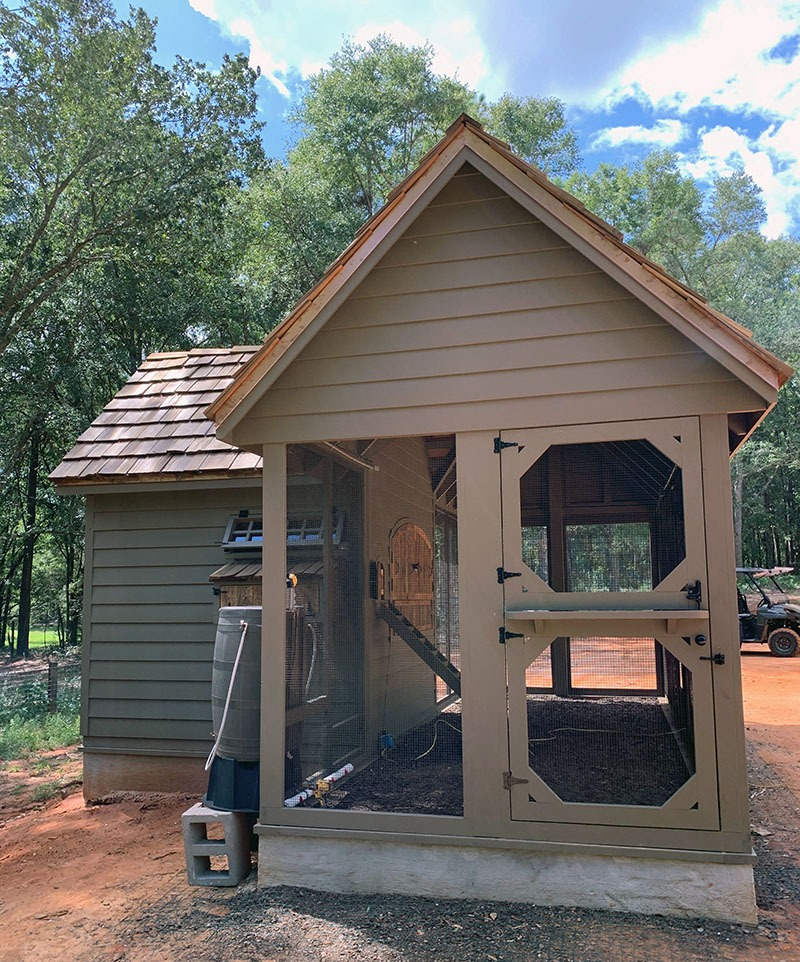 Carolina Coops custom Alabama Coop exterior with Dutch door