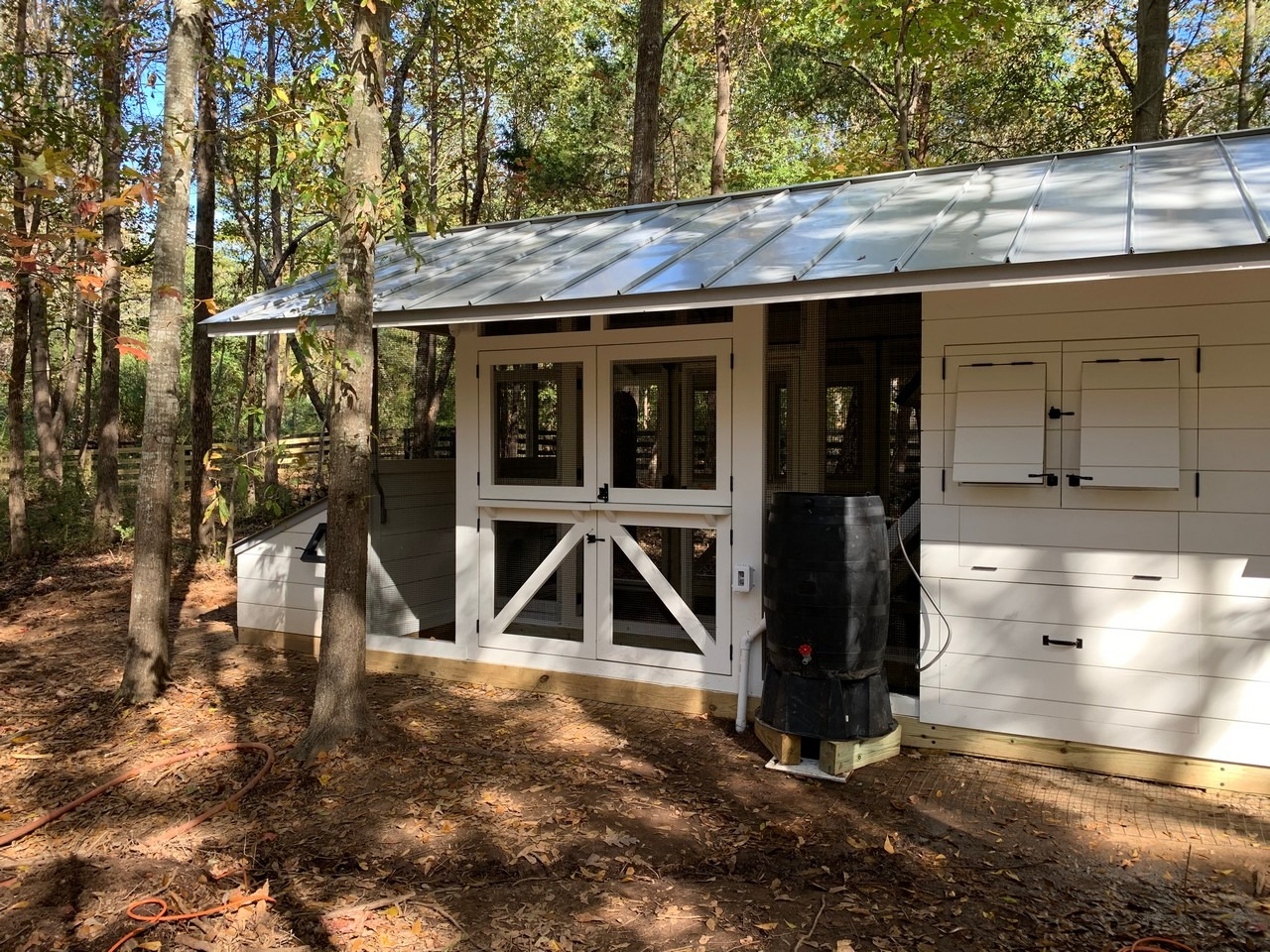 Modern Farmhouse custom chicken coop and duck house in South Carolina