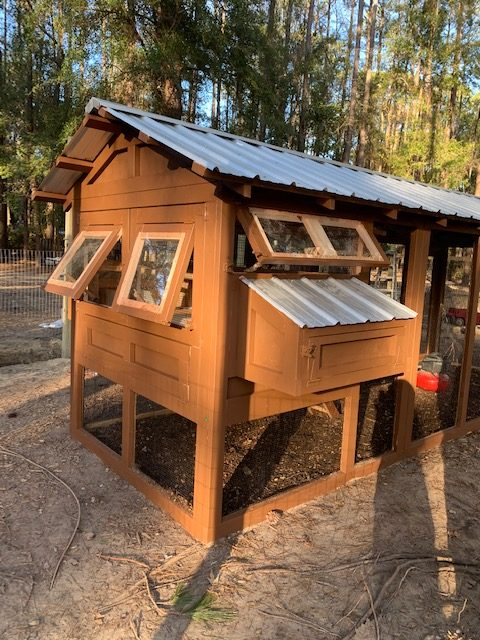 4'x6′ henhouse on a 6'x18′ American Coop in Bluffton, SC