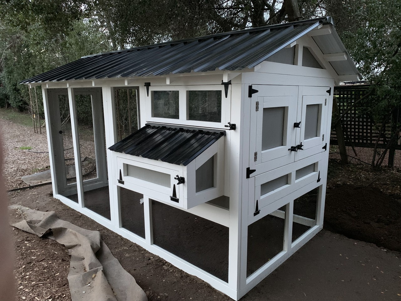 6'x12′ American Coop with 4'x6′ henhouse assembled by customer in Healdsburg, California