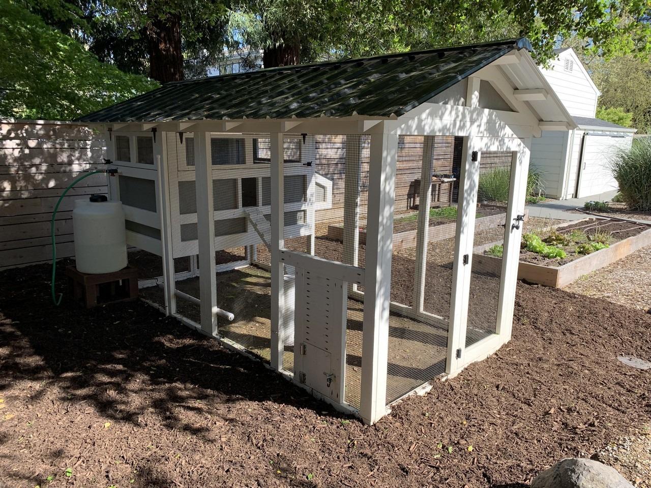 6'x12′ American Coop with 4'x6′ henhouse with chicken run door in Healdsburg, California