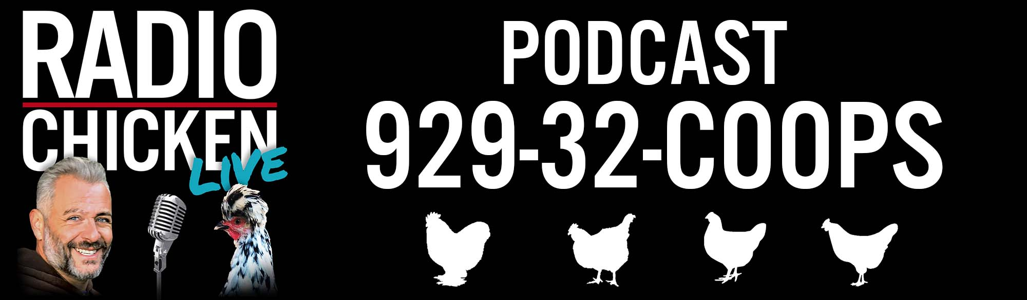 radio chicken LIVE PODCAST HEADER