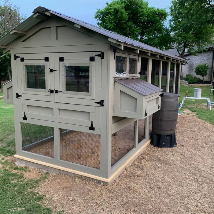 6'x18' American Coop in Texas with poultry water system