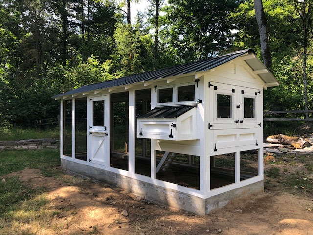 6'x18′ American Coop on cement footer