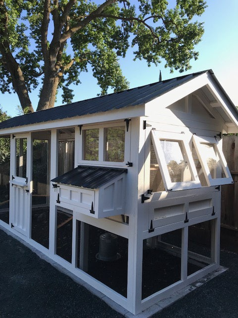 6'x18′ American Coop with 4'x6′ henhouse