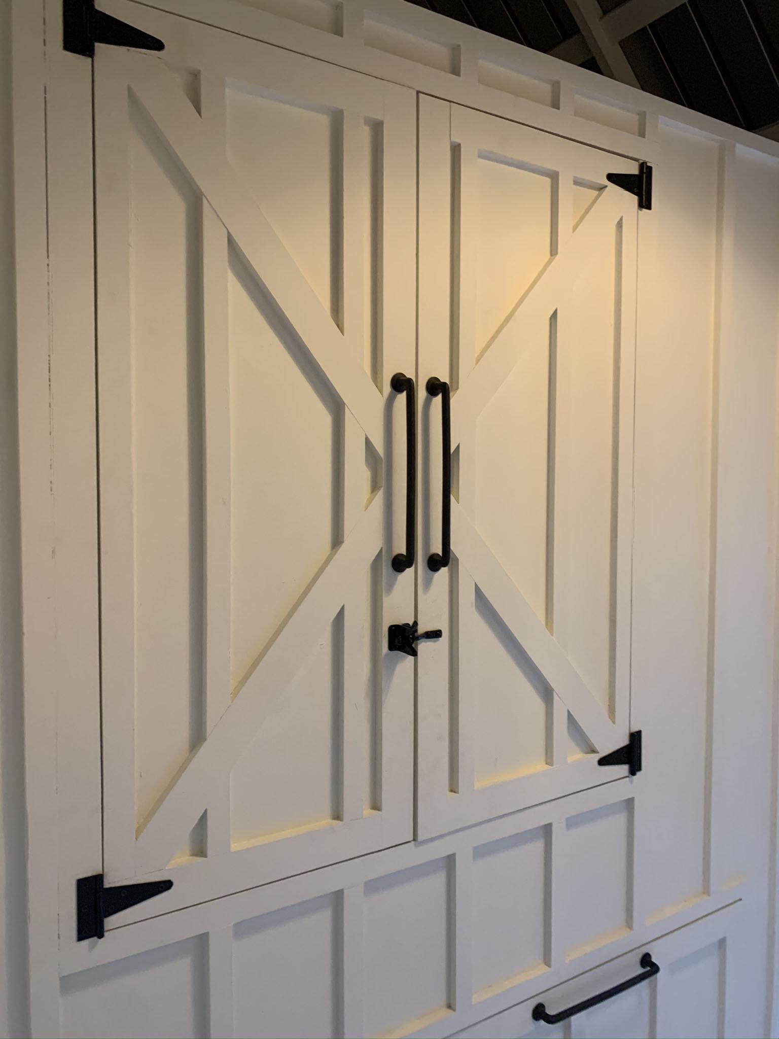 Carolina Coops- custom Craftsman Coop – henhouse doors with board and batten detail