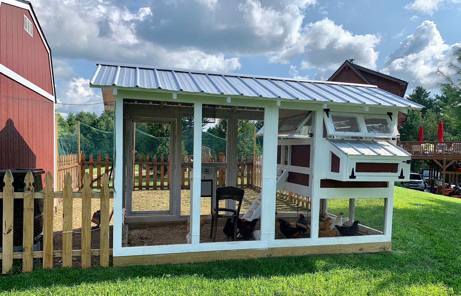 Standard 6'x12′ American Coop in West Jefferson, NC with extra egg hutch