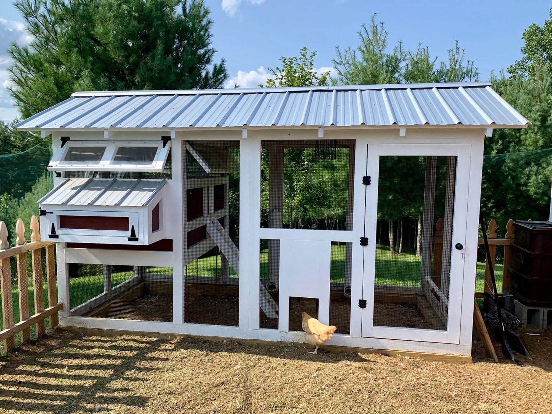 Standard 6'x12′ American Coop in West Jefferson, NC with manual run door