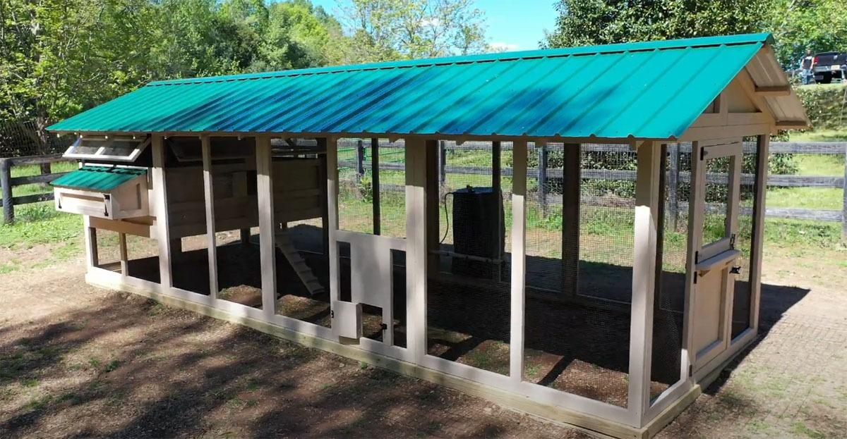 8'x24′ American Coop with 6'x8′ henhouse with Dutch door and chicken run door in Siler City, NC