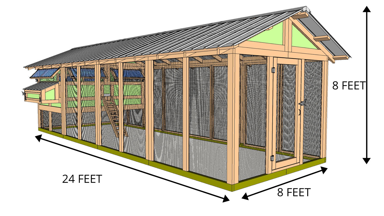 8'x24' American Coop with 6'x8' henhouse - STARTS AT $8,200