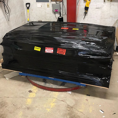 California Coop packed to ship on a pallet