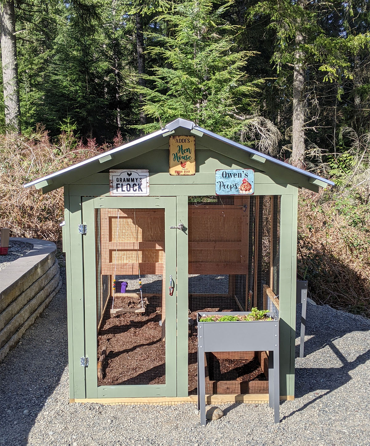 6×12 American Coop in Washington state painted by customer