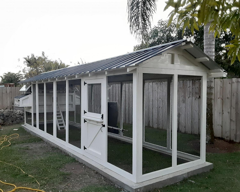 6×24 American Coop in Miami, Florida with Dutch door built on concrete base