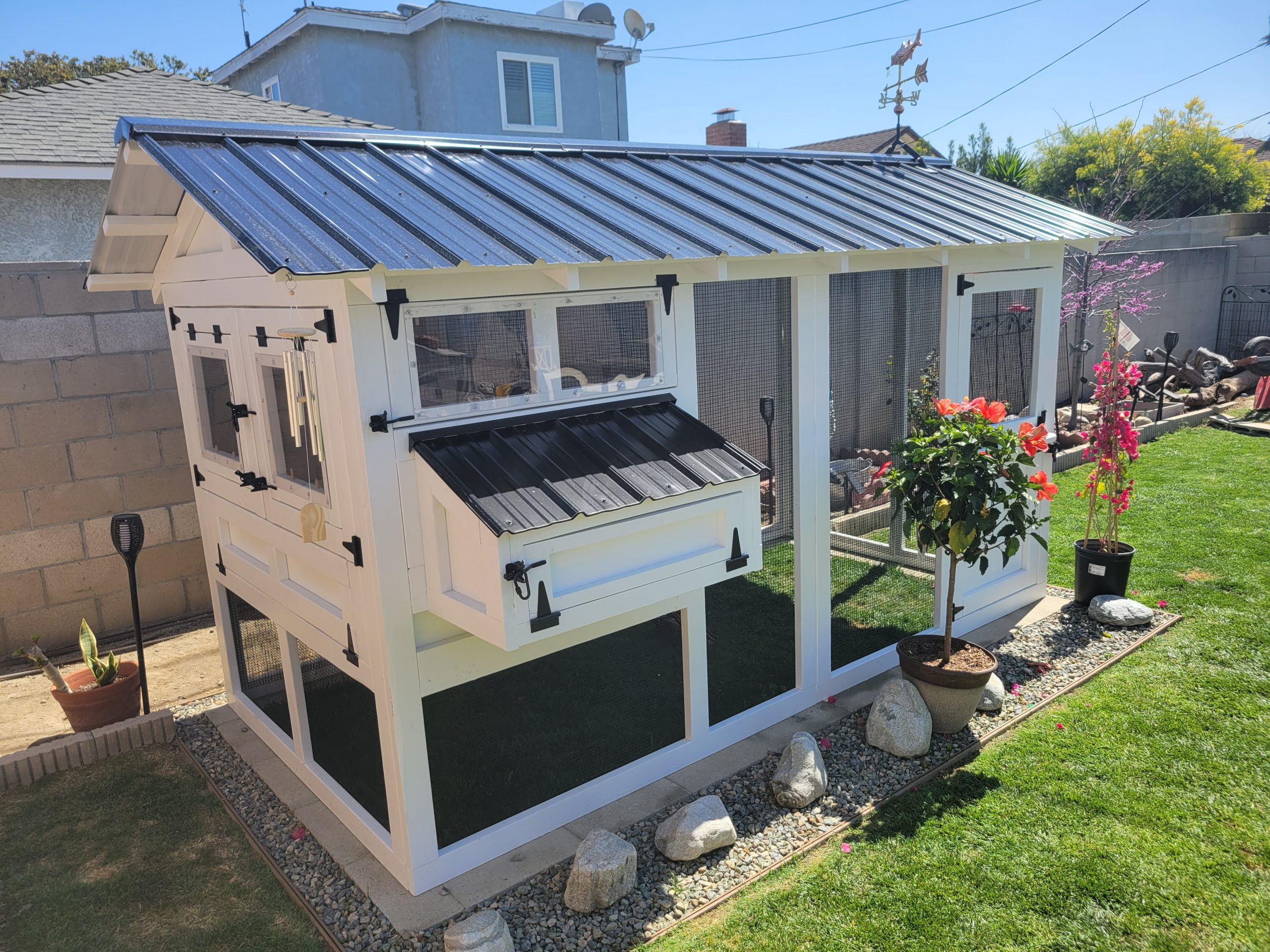 6'x12′ American Coop in California assembled and painted by customer (12)