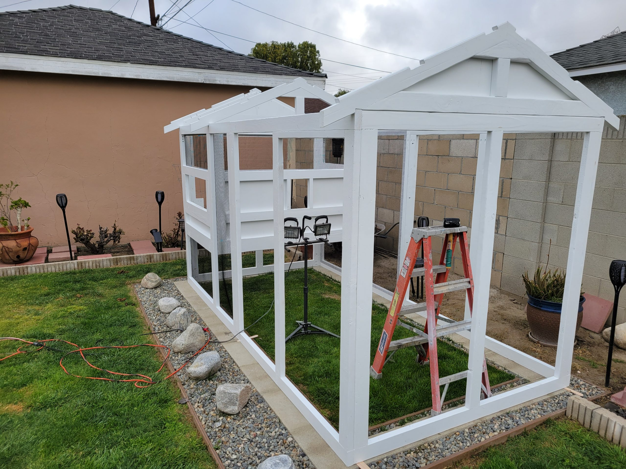 6'x12′ American Coop in California assembled and painted by customer (9)