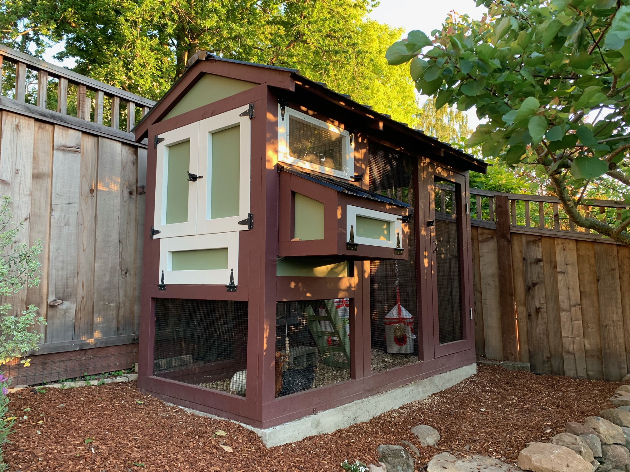 California Coop in Oakland California painted and assembled by customer