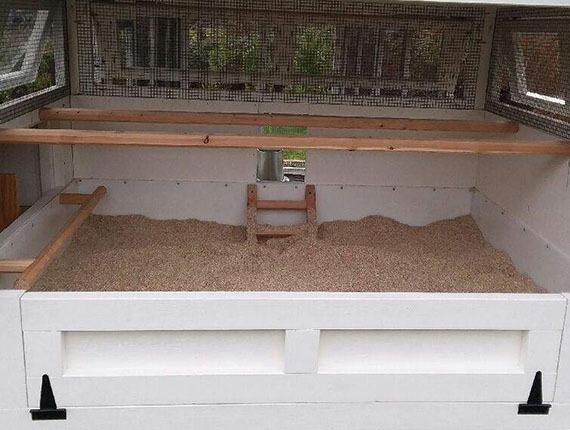 Carolina Coops deep litter beds in henhouse
