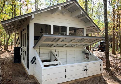 Custom Duck house with duck dipper inside duck house