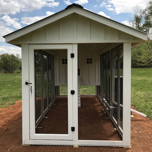 large walk-in covered runs